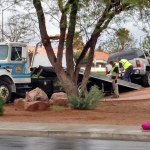 Afternoon accident misses disaster by inches and minutes