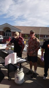 Mayor Al Litman always brings a smile to an early morning crowd for the Mayor's Pancake breakfast set for May 7 at 7 a.m. Photo by Stephanie Frehner.