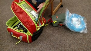 It may be a small backpack, but it holds many keys needed to save lives as Mesquite Fire and Rescue continues to respond to emergency situations. Photo by Stephanie Frehner.