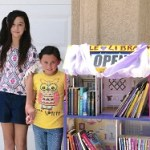 Kids little library open for business