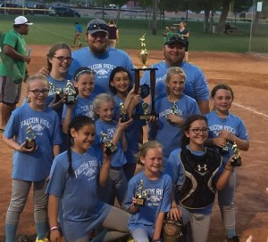 Congratulations to Falcon Ridge Car Wash! These ladies are the Champions of the Minor League Softball Division 2016!