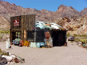 Gas station at Techatticup Mine Camp, NV - September 2016
