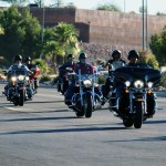 Bikers rally, in Mesquite, against child abuse