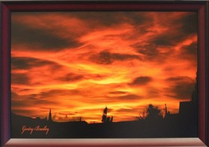 Gentry Bradley caught a beautiful fall sunset in this photograph titled 'Sunset Skys'. Photo by Teri Nehrenz