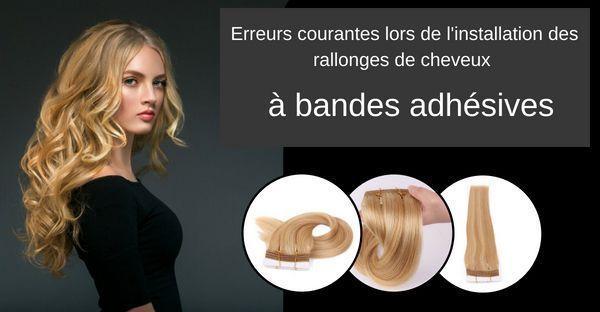 installation des rallonges de cheveux