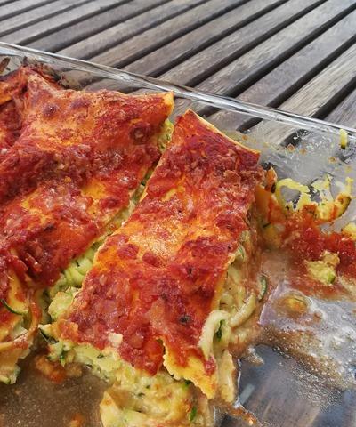 Lasagnes courgettes, ricotta et sauce tomate (1)