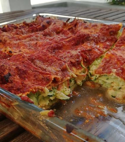 Lasagnes courgettes, ricotta et sauce tomate (3)