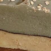 savon exfoliant à l'avoine et argile verte