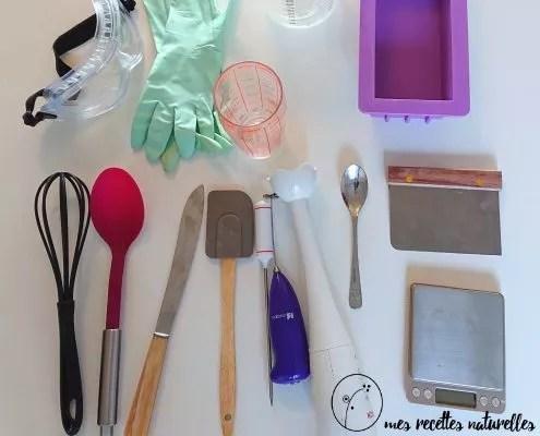 Le matériel pour la fabrication du savon