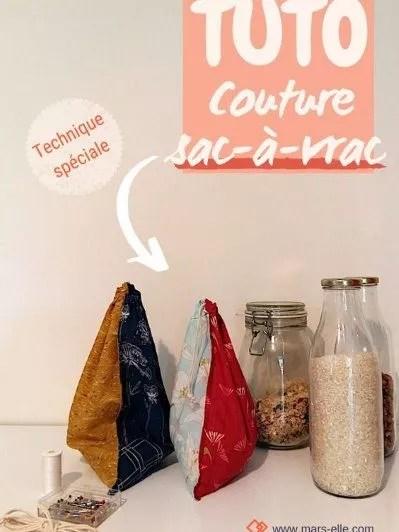 DIY zero dechet : tuto pour faire un sac à vrac