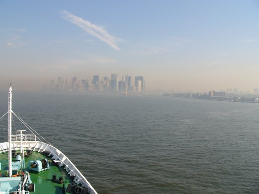 New York City Seen From Maxim Gorkiy Cruise Ship