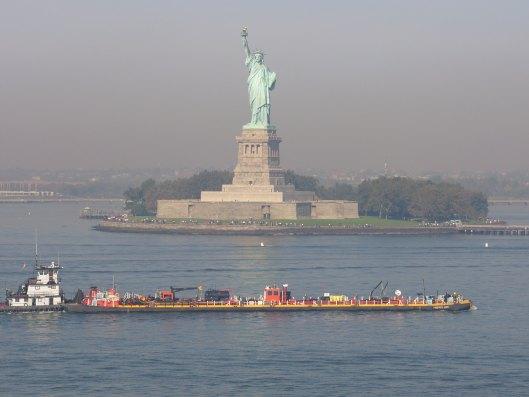 Statue of Liberty Seen From Maxim Gorkiy Cruise Ship