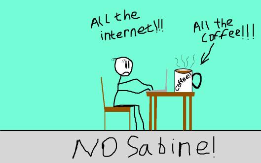 All The Internet : No Sabine!