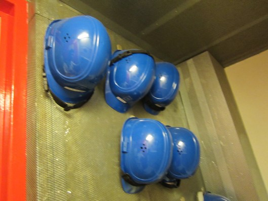 Hardhats on Wega Research Vessel