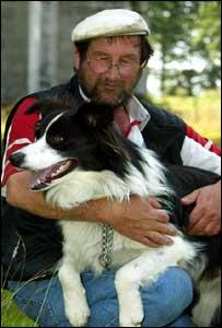 Brian Besler and Ben the Sheepdog