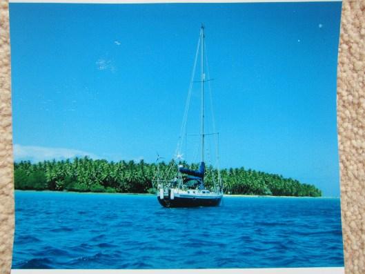 Sara II at anchor.