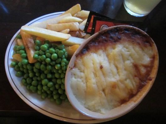 Cottage Pie at the Gun Inn.