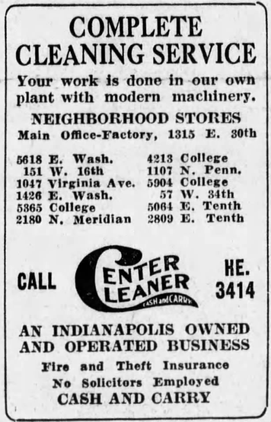 center-cleaners-ad-november-14th-1932-indianapolis-star