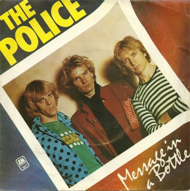 Message in a bottle songs, movies, & stories: Sting and The Police cover for Message in a Bottle