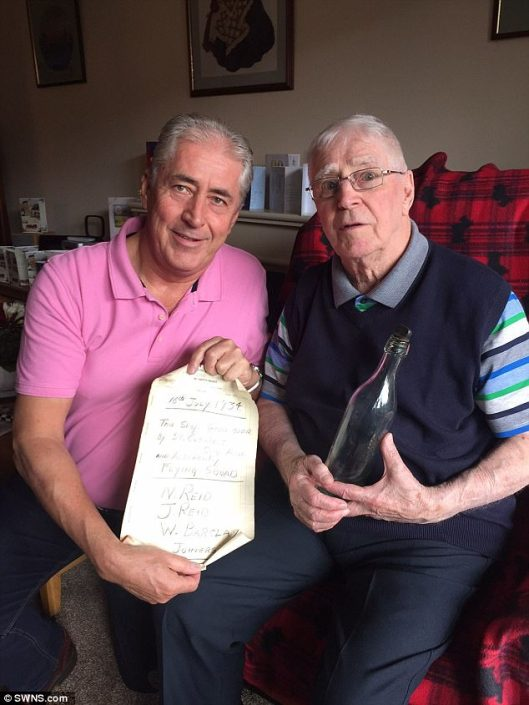 Best messages in bottles - Scottish man reunites with father