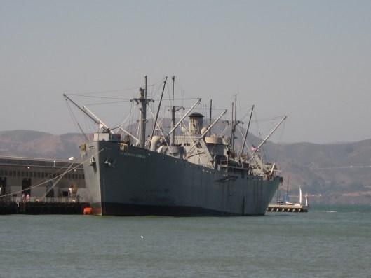 Liberty Ship in San Francisco Bay