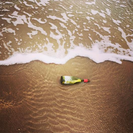Art in a Bottle: The Message in a Bottle as Gemma Dunstan Found it on Devon's North Coast.