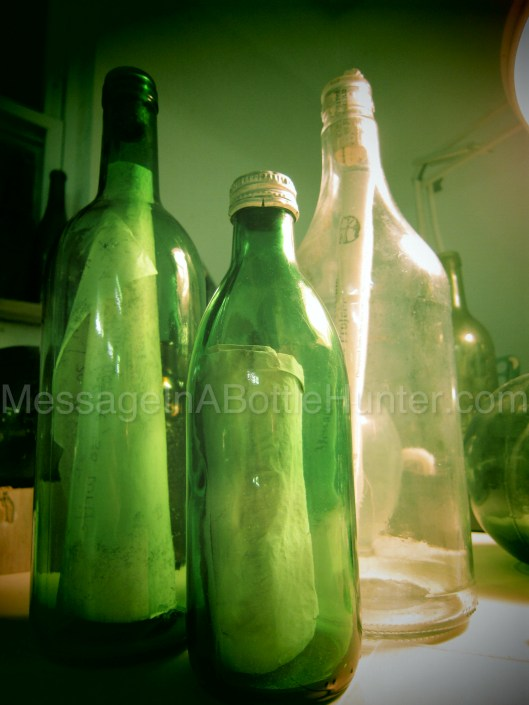 Buffington messages in bottles waiting to be opened