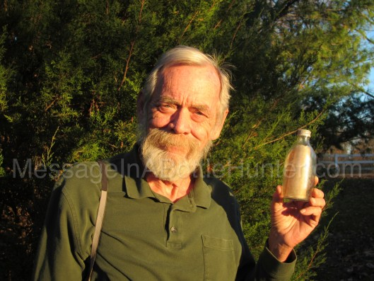 Dad with ARC Gloria Message in a Bottle Watermarked 2 Message in a Bottle Day 2017