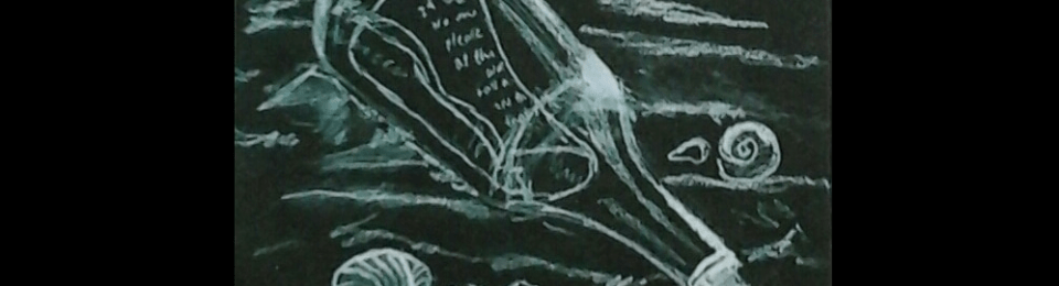 Tara Neilson Twilight Zone Message in a Bottle Drawing