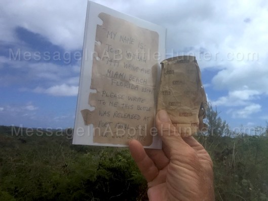 Joel Nathan's 49 year old message in a bottle and Kodak film wrapper