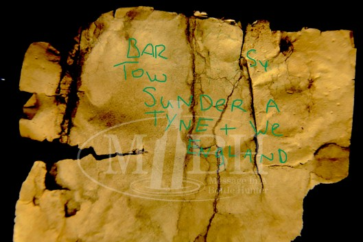 1970s Message in a Bottle from Sunderland UK Partially Deciphered