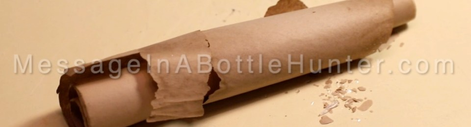 Ken Henderson's 50 year old message in a bottle scroll