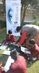 Painting and drawing Competition with an aim to create mass awareness and develop civic responsibility at St. Mary Convent School