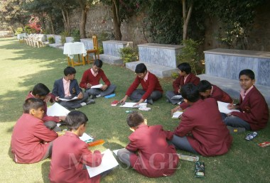 MESSAGE organize a Painting and drawing Competition with an aim to create mass awareness and develop civic responsibility at St. Mary Convent School