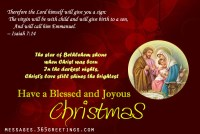 Merry Christmas Christian Greetings