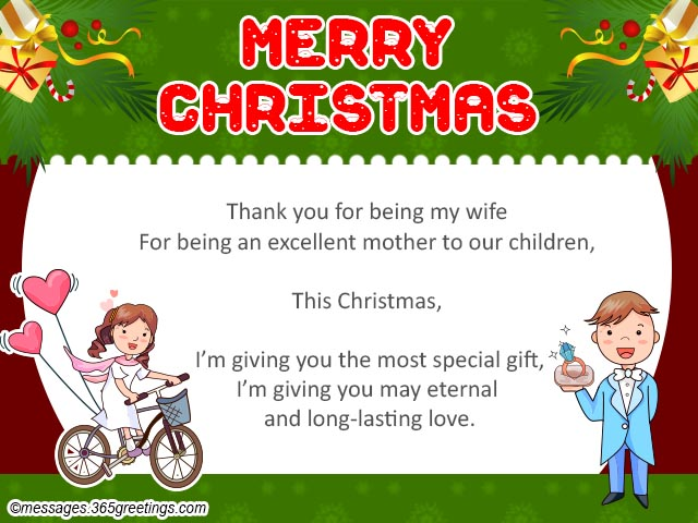 Merry Christmas Card For Wife