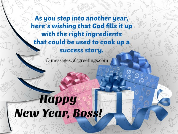 New Year Messages For Boss
