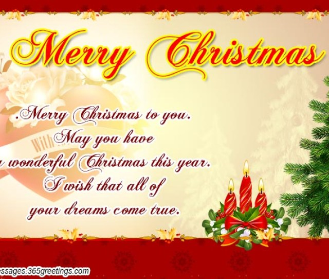 Romantic Christmas Greetings For Wife
