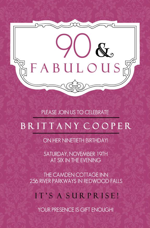 Free Printable Invitations 80th Birthday Party