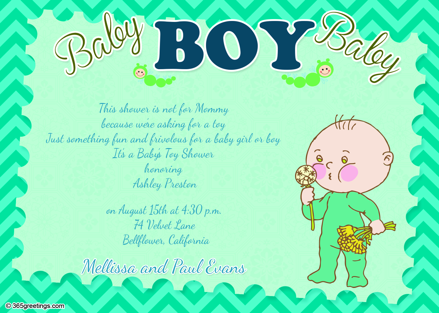 Baby Shower Invitation Wording For Boy