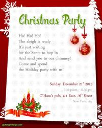 Christmas Invitation Poem Merry And Happy New Year 2018