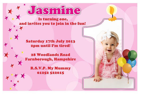 Hindi Invitation Card Matter For 1st Birthday – First Birthday Invitation Templates Free