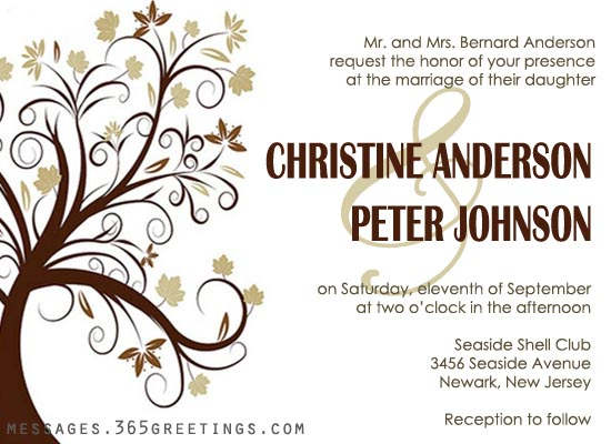 Formal Wedding Invitation Email Sample Ideas