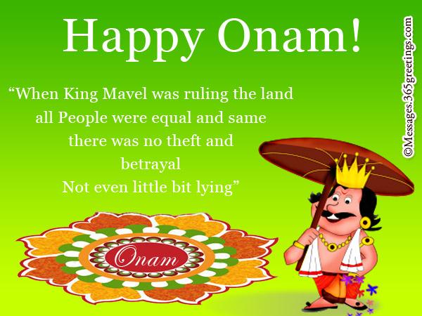 Onam Greetings In English