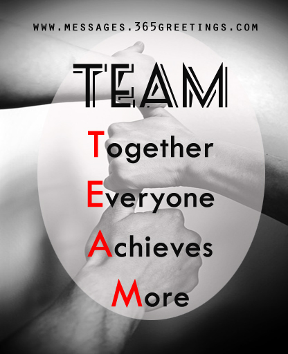 Teamwork Quotes and Sayings - 365greetings.com