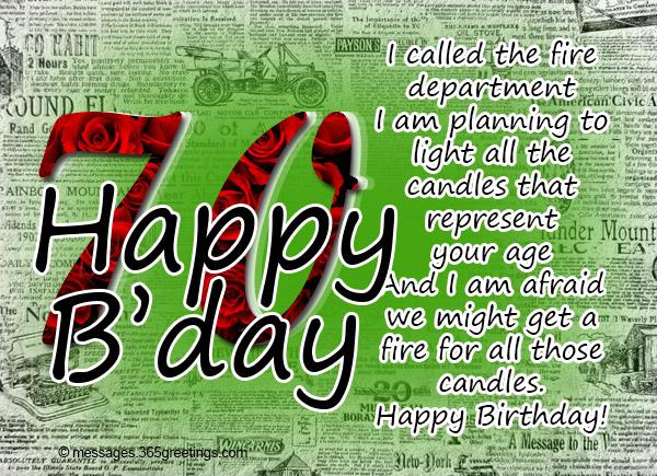 70th Birthday Greetings Friends