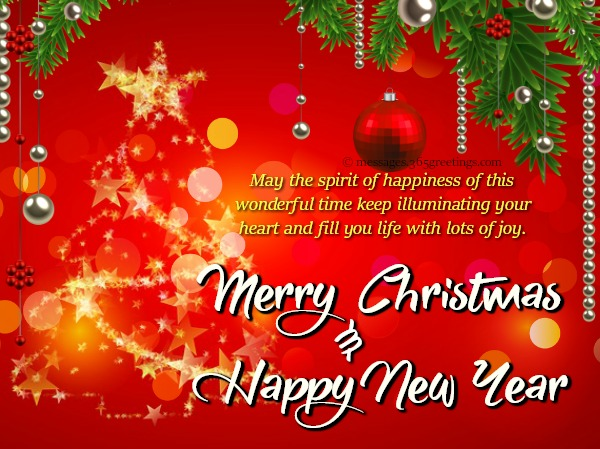 Merry Christmas And New Year Wishes