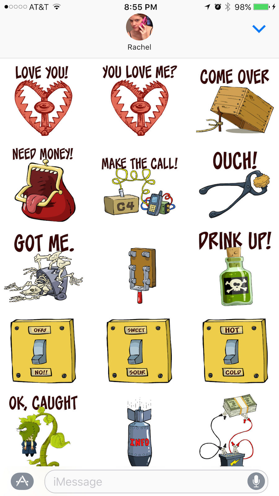 booby stickers for iOS messages