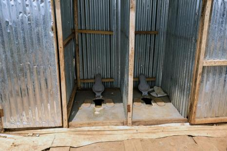 Latrines without seats or hand rails are difficult to access for people with physical disabilities, who sometimes have to crawl their way into the latrines, which can be filthy. Juba Protection of Civilians 3, March 2017