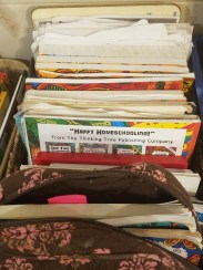 Individual kiddos books held together with book bands
